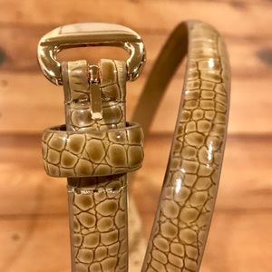 Banana Republic Snakeskin Leather Belt